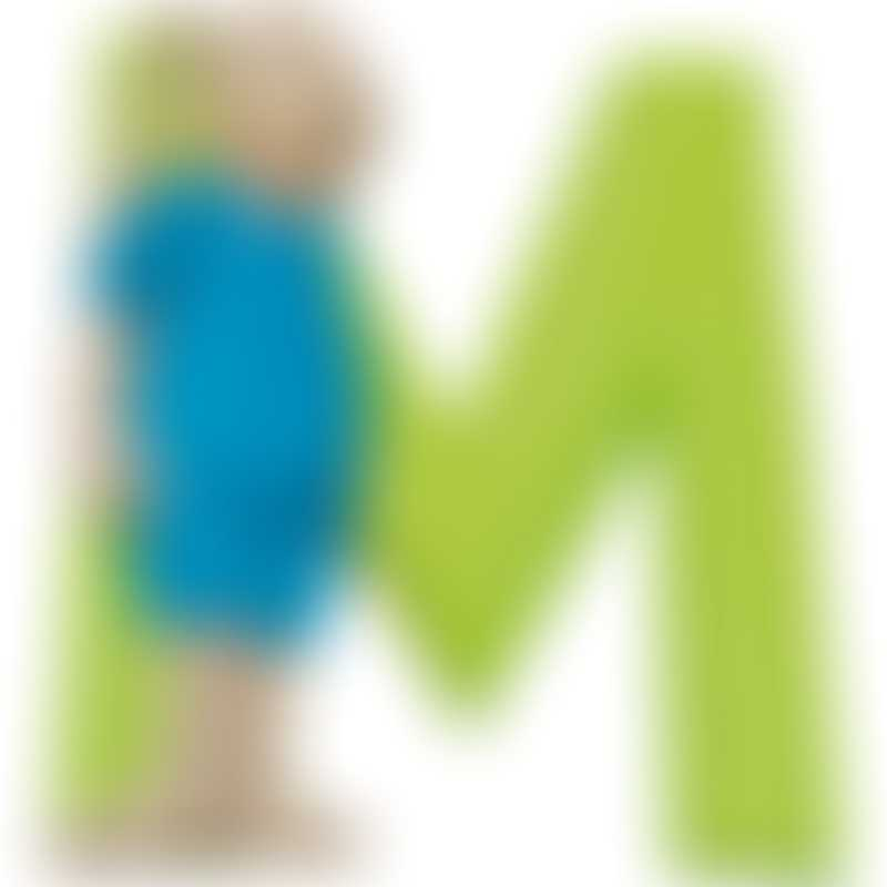 "Moulin Roty La Grande Famille ""M"" Resin Letter 7cm (632812)"