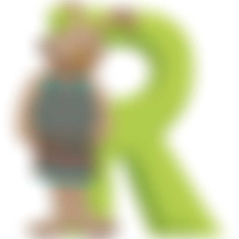 "Moulin Roty La Grande Famille ""R"" Resin Letter 7cm (632832)"