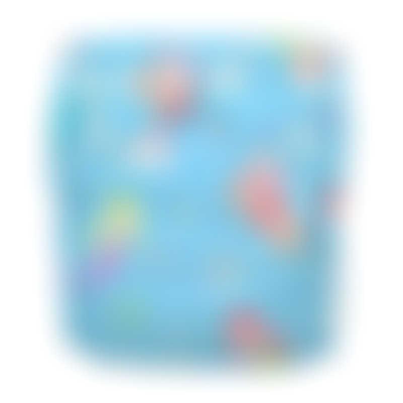Charlie Banana 1 Diaper 2 Deluxe Inserts - Mermaid Tiffany (One Size Hybrid AIO)