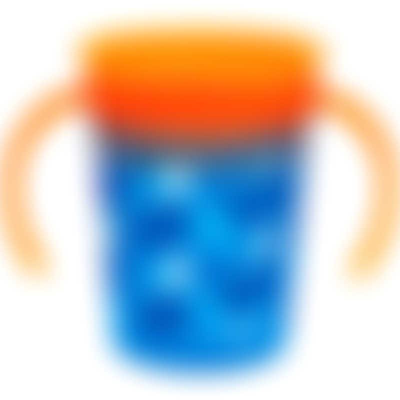 Munchkin Miracle 360° Deco Trainer Cup 6oz - Blue/Orange 6m+