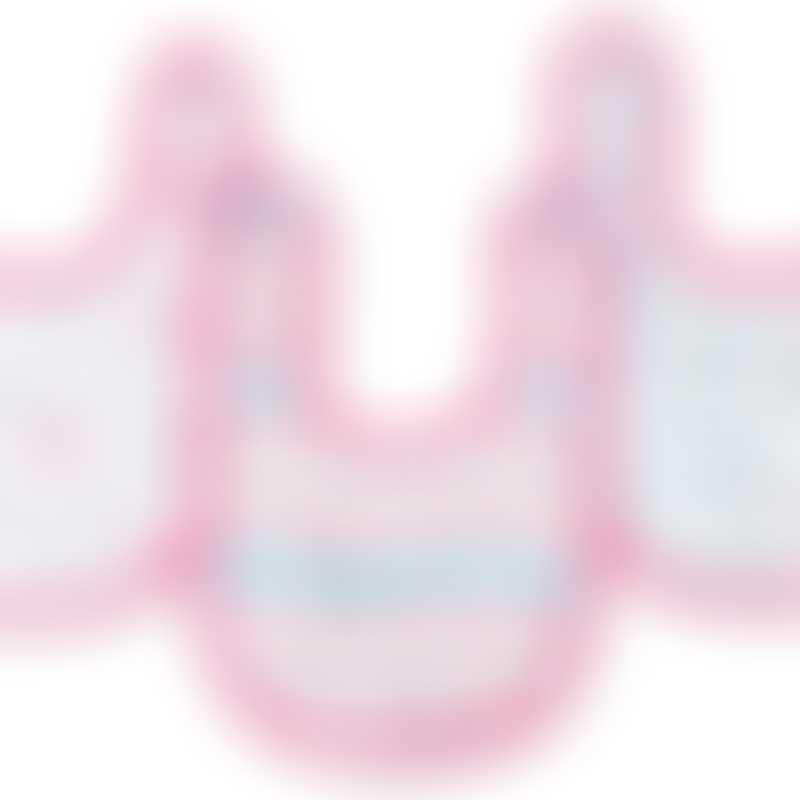 Aden - Ideal Baby Little Bibs 3 Pack - Pretty Sweet