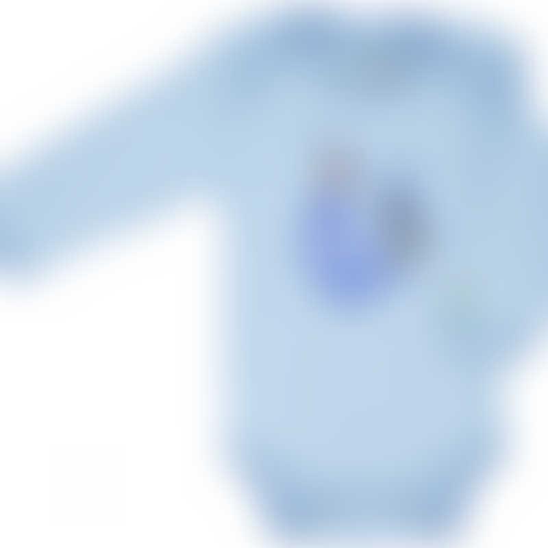 Baby Hero Blue Rooster Onesie, Long-Sleeve 0-3m / 3-6m / 6-12m