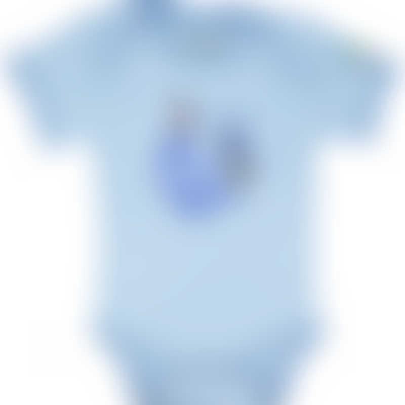 Baby Hero Blue Rooster Onesie, Short-Sleeve 0-3m / 3-6m / 6-12m