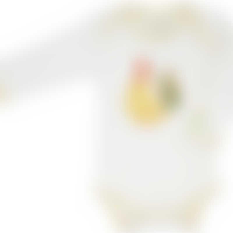 Baby Hero Yellow Rooster Onesie, Long-Sleeve 0-3m / 3-6m / 6-12m