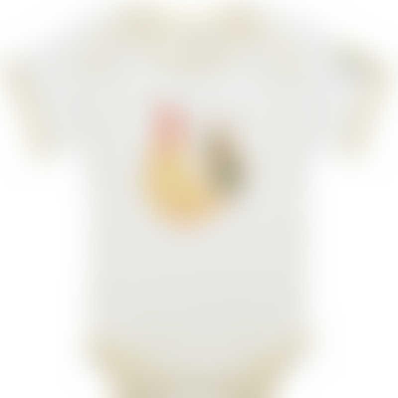 Baby Hero Yellow Rooster Onesie, Short-Sleeve 0-3m / 3-6m / 6-12m
