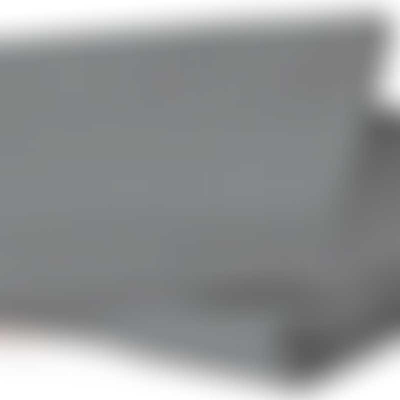 bloom Alma Mini Fitted Sheet (90cm x 45cm) 2pc set - Frost Grey 100% Organic Cotton