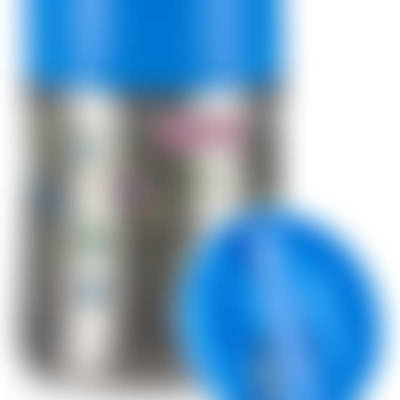 Nuby Printed Stainless Steel Food Jar - Geo Prints - Blue