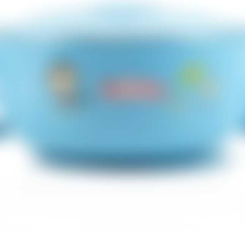 Nuby Sure Grip Warming Stainless Steel Feeding Bowl - Blue