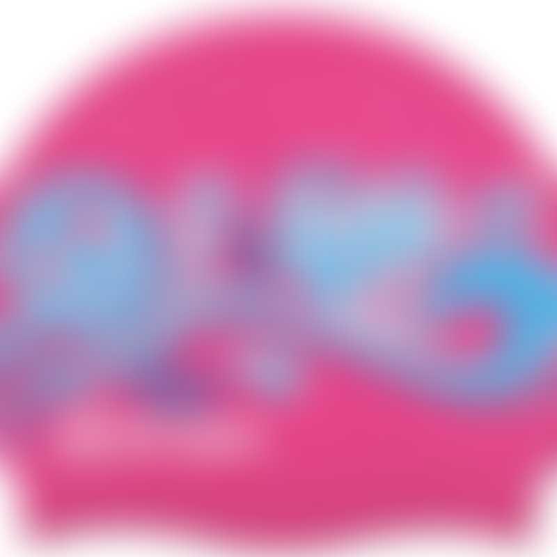 Vorgee Printed Silicon Swim Cap - Miss Glamour - Pink