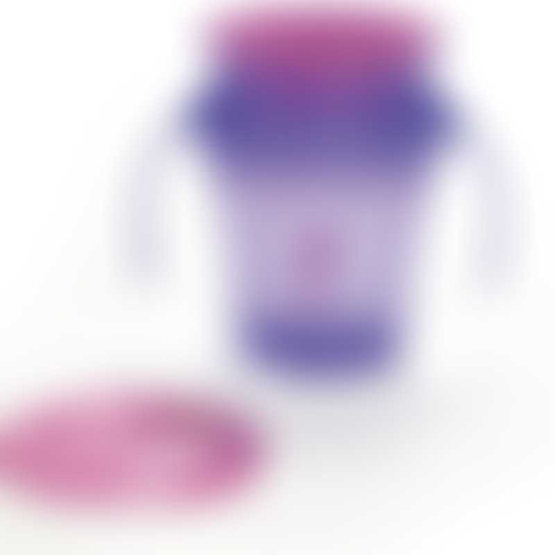 Wow Gear JUICY!WOW Cup® 360度半透明防漏学习杯 -  紫色