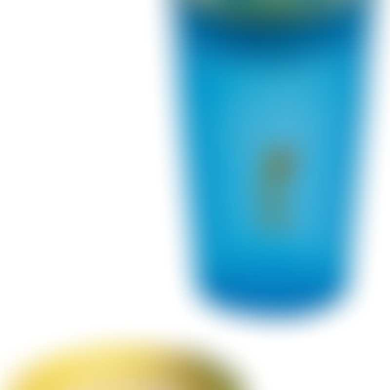 Wow Gear 9 oz (266ml) translucent blue JUICY! WOW cup for Kids with Freshness Lids, yellow valve & freshness lid