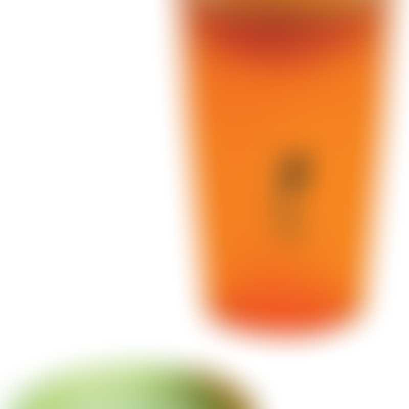Wow Gear 9 oz (266ml) translucent orange JUICY! WOW cup for Kids with Freshness Lids, green valve & freshness lid