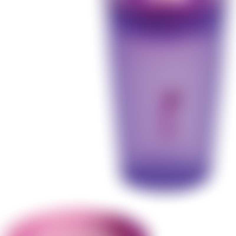 Wow Gear 9 oz (266ml) translucent purple JUICY! WOW cup for Kids with Freshness Lids, pink valve & freshness lid