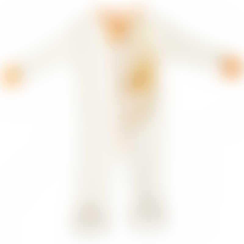Baby Hero Monkey Footie - Orange, 100% Organic Cotton 0-3m / 3-6m