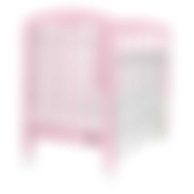 "Baby Star Cozzi Baby Cot with 4"" Mattress - Pink / European Beech"