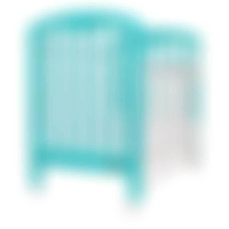 """Baby Star Cozzi Baby Cot with 4"""" Mattress - Turquoise / European Beech"""