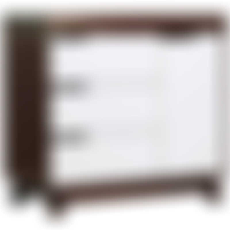 Babyletto Hudson 3-Drawer Changer Dresser - Espresso / White