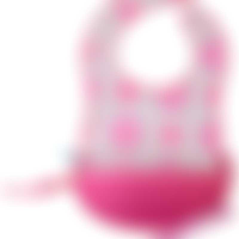 b.box Travel Bib + Spoon - Pink Flower Power