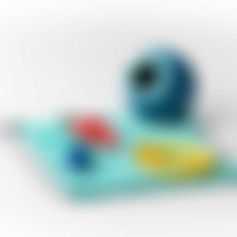 Quut Toys Beach Set - Mini Ballo (incl. Mini Ballo + Cuppi with Red Ball + Heart Magic Shaper)