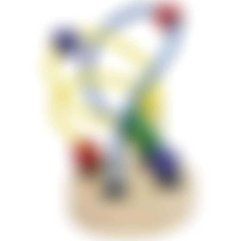 Goki Bead Coaster - Yellow/Blue