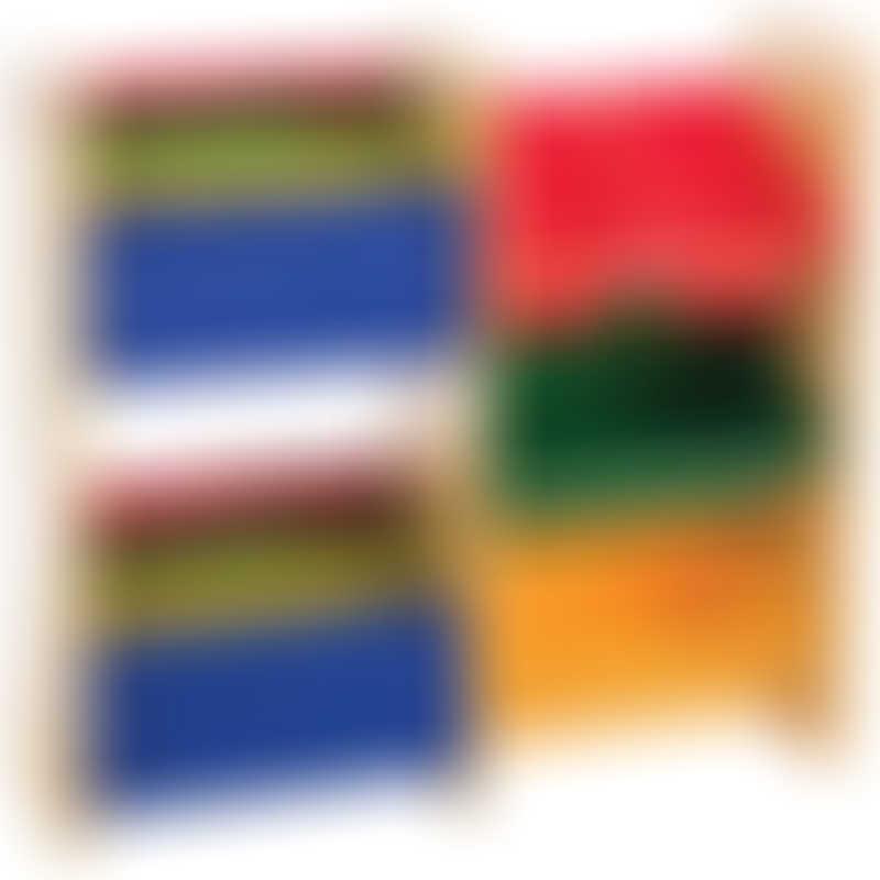 Baby Star x Delsun Book Rack & 4 Toy Storage Organizer - Rainbow