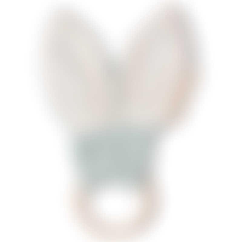 Nobodinoz Bunny Teether Ring - Green