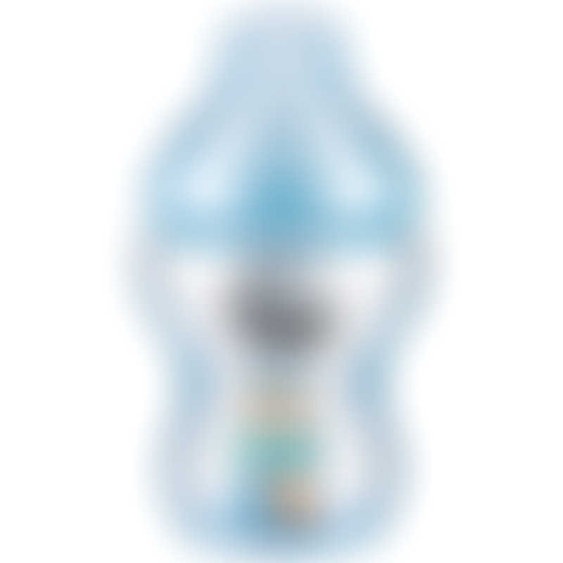 Tommee Tippee Closer to Nature PP Tinted Decorated Bottle 260ml - Blue