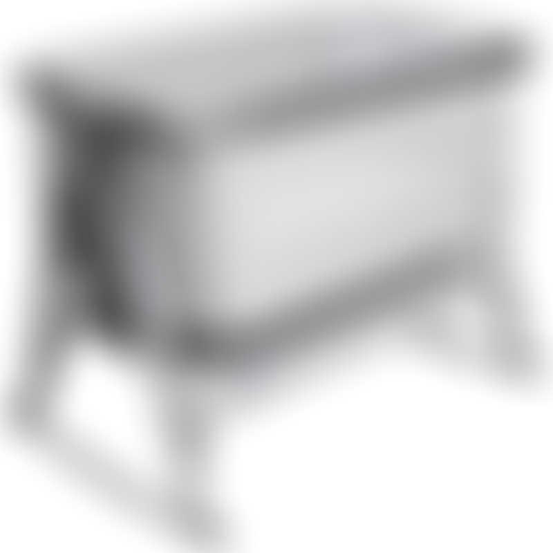 Tutti Bambini CoZee Air Bedside Crib with Rocking Feet - Space Grey & Slate