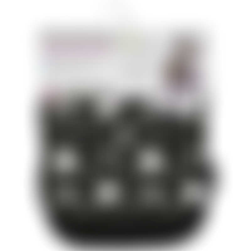 CuddleCo Comfi-Cush Memory Foam Stroller Liner - Black & White Stars