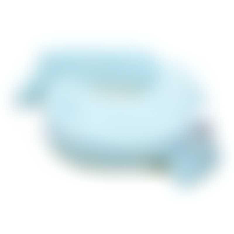 My Brest Friend Deluxe Baby Nursing Pillow - Flower Key Sky Blue