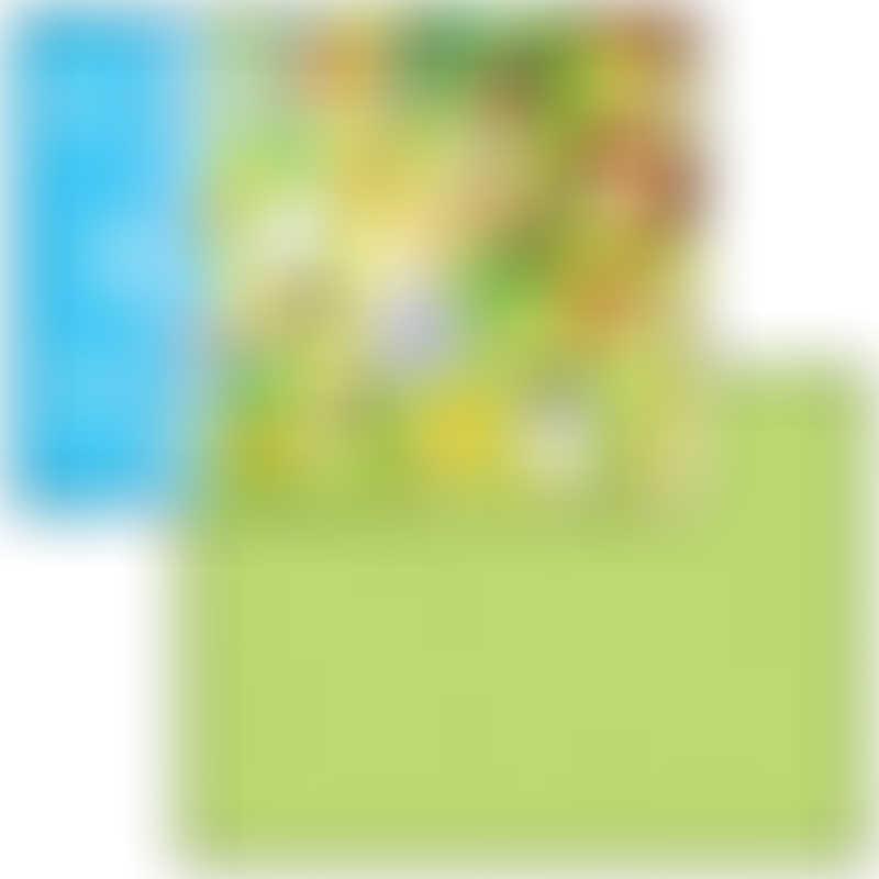 Dwinguler Double Sided Playmat - Small 140x100cm - Zoo Green