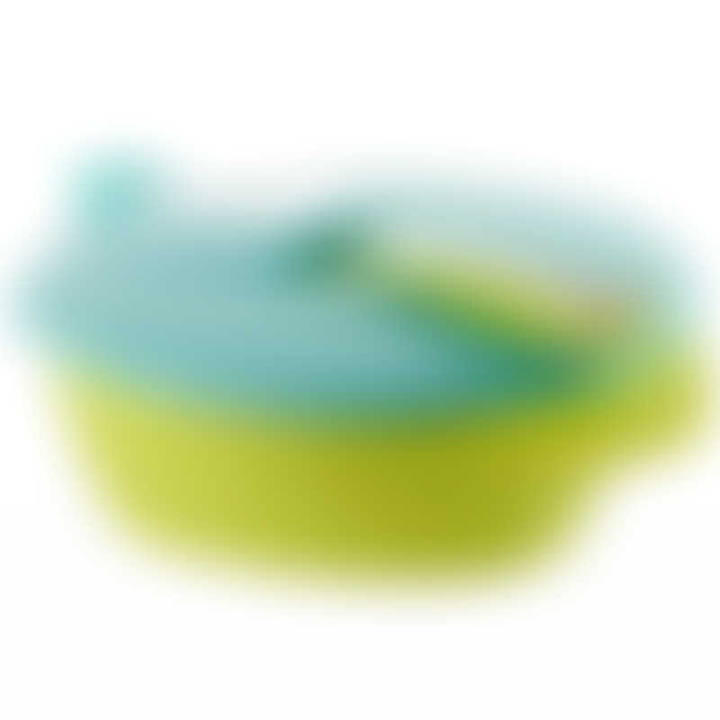Tommee Tippee Easy Scoop Feeding Bowl with Spoon & Lid - Lime Green 7m+