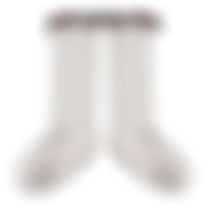 Collegien Elisabeth-Liberty Ruffle Knee-Highs Socks - Cream - 21/23 (1-2y)