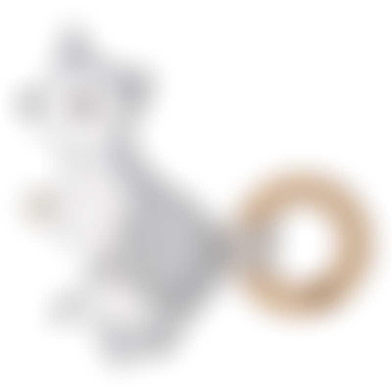 Kippins Kiplet Baby Rattle - Wolfie