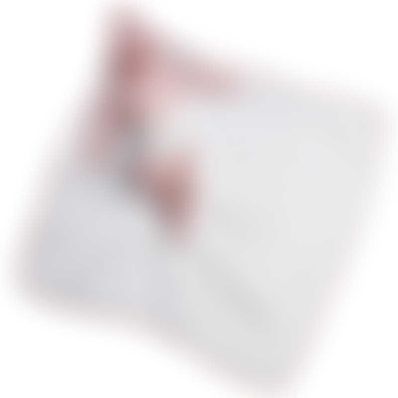 Red Castle | Cocoonababy Hooded Towel 100x100cm - Fleur de Coton, White / Chalk Pink