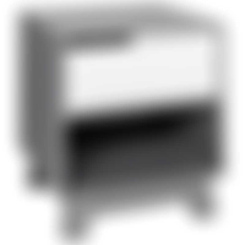 Babyletto Hudson Nightstand with USB Port - Grey / White