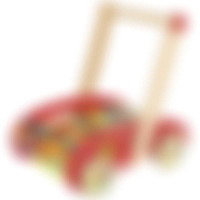 Janod Tatoo ABC Buggy Cart - 30 Blocks