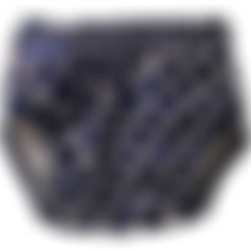 Konfidence AquaNappy Swim Nappy (One Size) - Navy Polka Dot