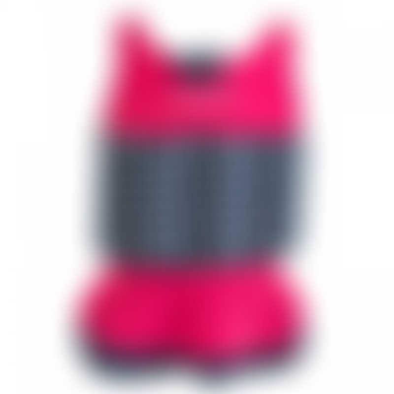 Konfidence Floatsuit - Pink & Navy Polka - 1-2 Years