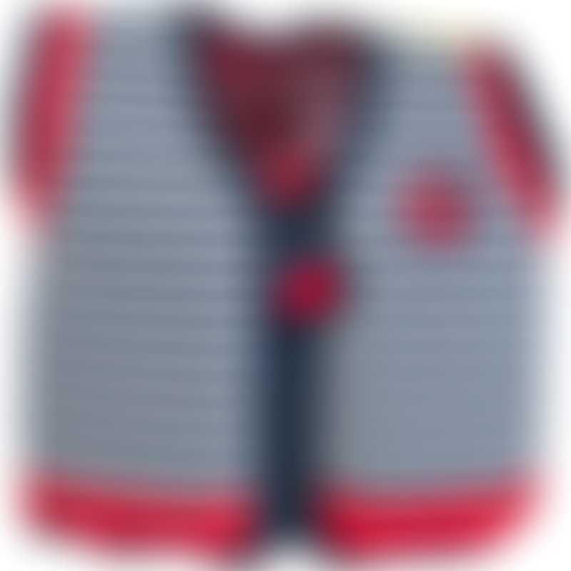 Konfidence Swim Jacket - Navy Blue Stripe - 4-5 Years