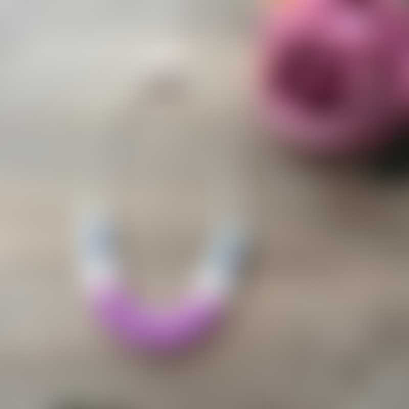 Little Caleb Kids Teething Necklace - Amelia - Violet