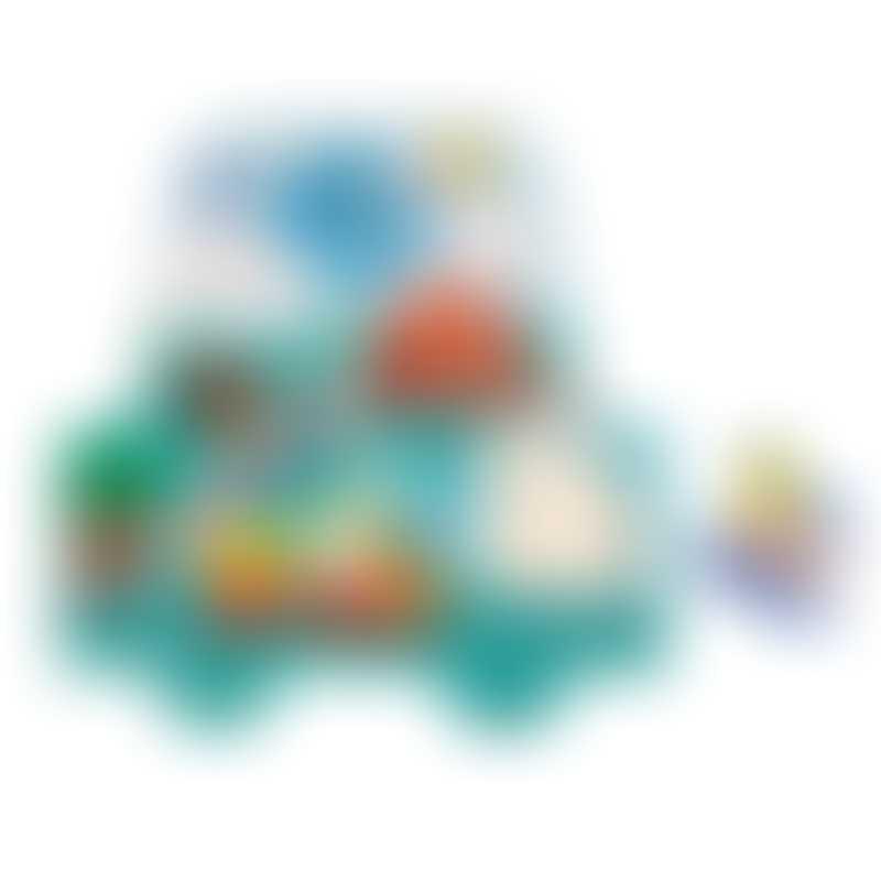 Janod Musical Puzzle - Little Racers 5-Pieces