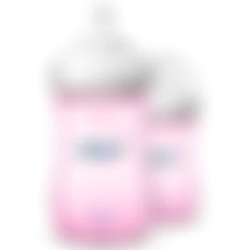 Philips Avent Natural PP Bottle 260ml/9oz - Twin Pack - Pink