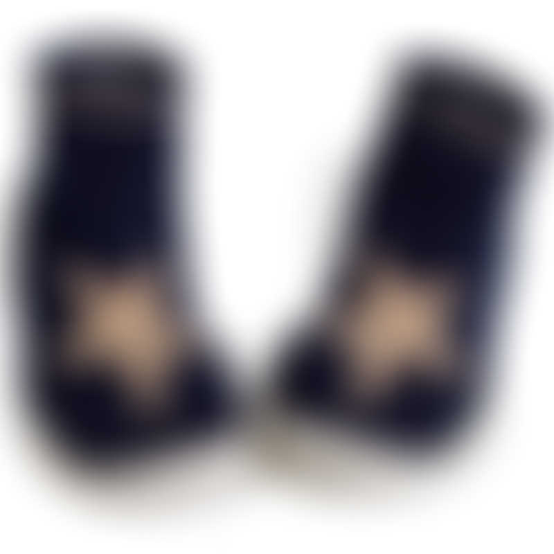 Collegien Navy Star Slipper