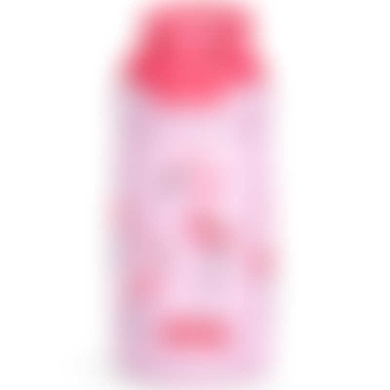 Nuby No-Spill Thirsty Kids Stainless Steel Reflex Flip-it 300ml - Flamingo Road