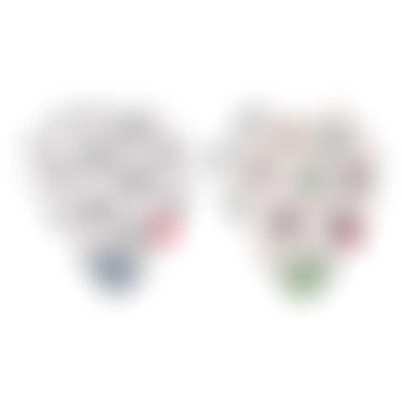 Nuby Muslin Bandana Bibs with Teether 2-Pack - Business Wear Star & Bi-Polar Bears