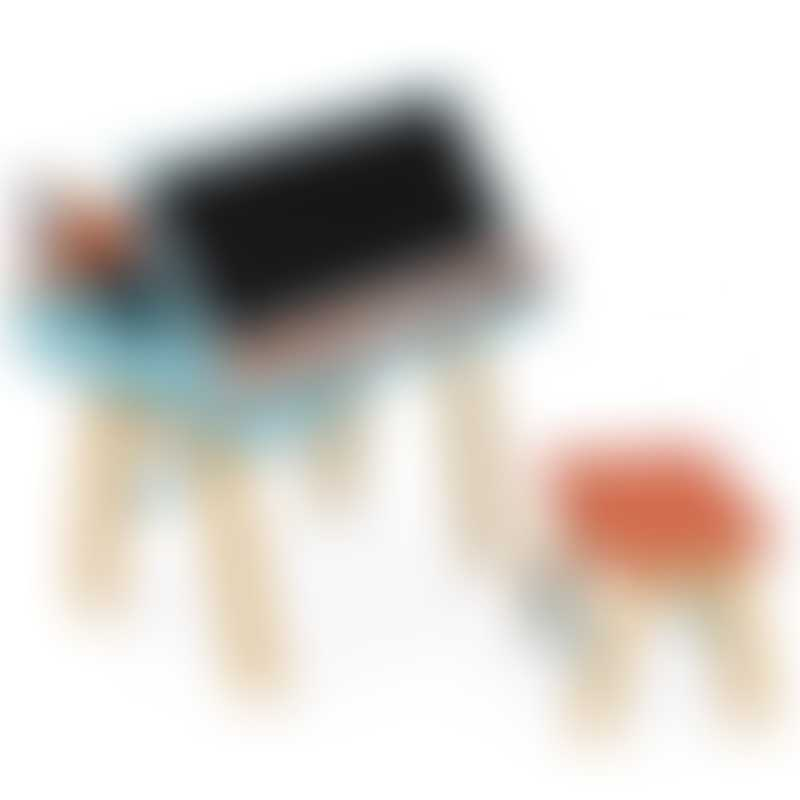 Janod Orange and Blue School Desk & Chair