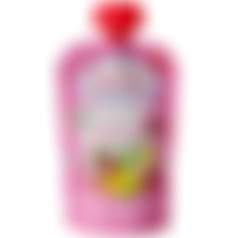 FruchtBar Organic Fruit Puree with Oatdrink - Raspberry, Banana, Pear 100g