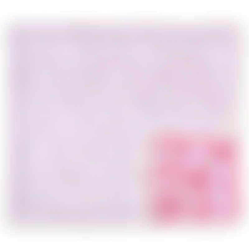Cotton Pigs Organic Reversible Blanket 80x100cm - Giraffes & Strawberries