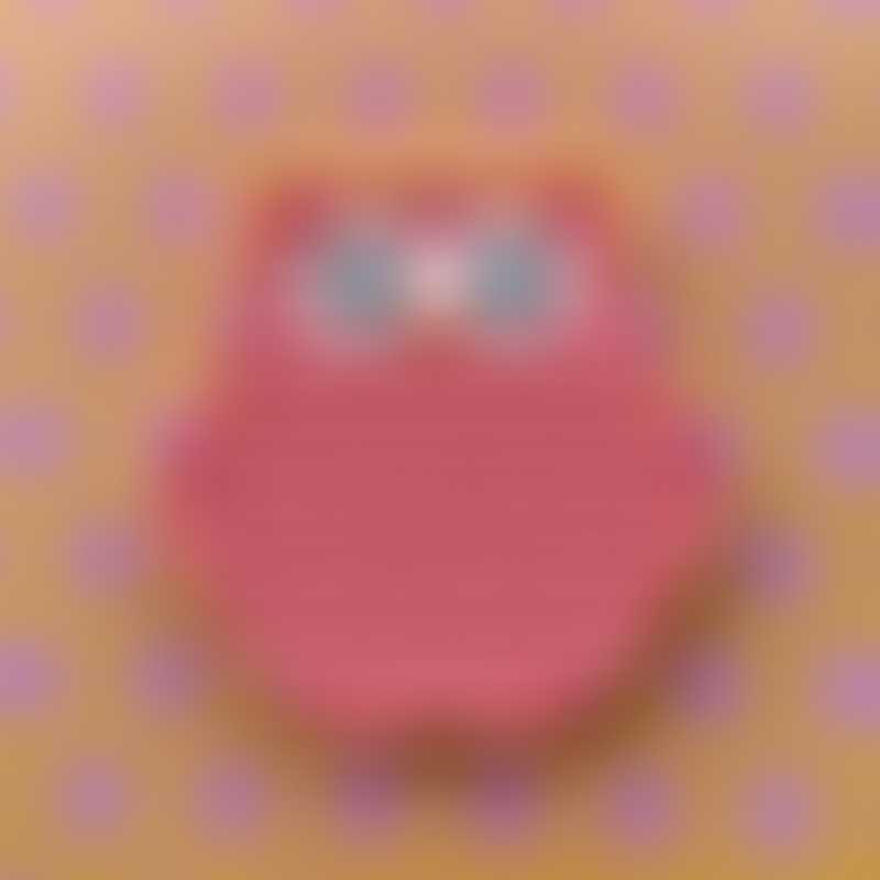 Little Caleb Owl Pop It Fidget Toy - Pink